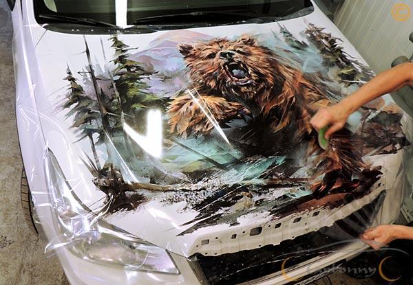 пленка с рисунком на автомобиль цена